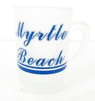 Myrtle Beach Frosted Mug Shot Glass Collectible Souvenir Barware