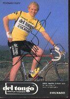 RUDY PEVENAGE cyclisme carte signée dedicacée DEL TONGO