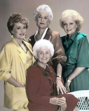 """THE GOLDEN GIRLS ARTHUR, WHITE, McCLANAHAN, GETTY 8x10"""" HAND COLOR TINTED PHOTO"""