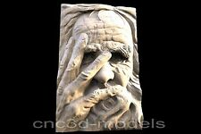 3D Model STL for CNC Router Engraver Carving Relief Artcam Aspire Old Man 146