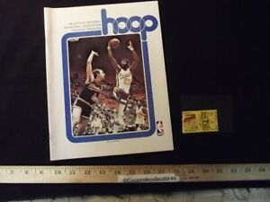 Dec 7 1976 Buffalo Braves v Indiana Pacers Program NBA Game Billy Knight Cover