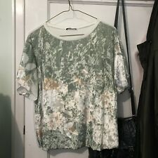 b15b9b06a8d302 Zara Collection Women Floral Velvet Shirt Blouse