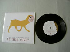 """CLAP YOUR HANDS SAY YEAH Is This Love? 7"""" vinyl single"""