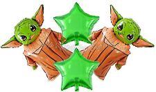 (4) pcs Star Wars Yoda Balloons Birthday Party Supplies
