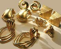 Vintage Designer Signed Lot Earrings Richelieu Monet Erwin Pearl Trifari