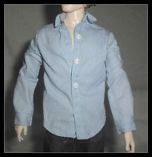 TOP  MATTEL KEN DOLL MODEL MUSE TWILIGHT EDWARD BLUE STRIPE SHIRT CLOTHING ITEM