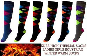 GIRLS EQUESTRIAN SOCKS FOR WINTER LADIES WINTER HORSE RIDING BOOTS SOCKS THERMAL