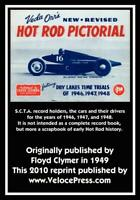Veda Orr's New Revised Hot Rod Pictorial Book~1949 Reprint~SCTA ~Dry Lakes~NEW