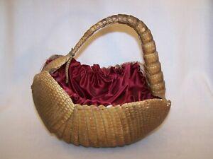 RARE Authentic Vintage Armadillo Basket / Purse