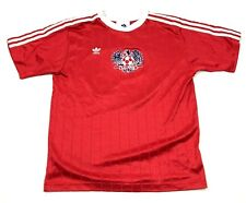 Vintage adidas Football Jersey Taille M Adulte Rouge Blanc Sec Fit Tee Col V USA