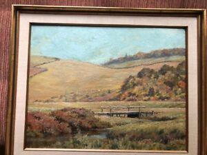LEGH MULHALL KILPIN, [CAN 1853-1919]. original O/B framed signed landscape.