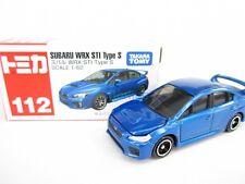 Takara Tomy Tomica #112 Subaru WRX STI Type S BLUE Scale 1/62 Diecast Toy Car