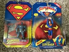 DELUXE FLYING SUPERMAN & MAN OF STEEL FIGURES KENNER NEW SHIP QUICK & FREE!