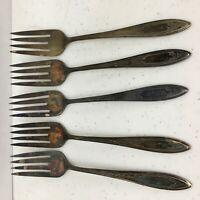 4 Oneida Wm A Rogers Friendship American Ballad Gettysburg set of Dinner Forks