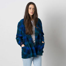Checked Blazer Outdoor Plus Size Coats & Jackets for Women