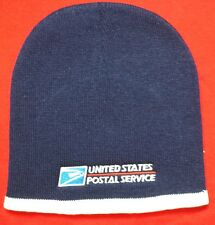 USPS POSTAL NAVY TWO-TONE BEANIE CAP USPS Embroidered On Front FREE SHIPPING