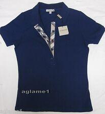 NWT Burberry London nova check polo shirt 100% authentic Small navy