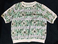 Green Flora Printed Silk Top