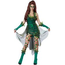 Lethal Beauty Poison Ivy Batman Costume Womens Halloween Fancy Dress Outfit