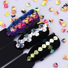 6 Boxes Holographic Chameleon Nail Sequins Laser Glitters Flakies 3D Decoration