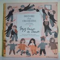 33T 25 cm Jacques CHARRON Disque HISTOIRE D'UN ORCHESTRE - RONDE ENFANTS 43944