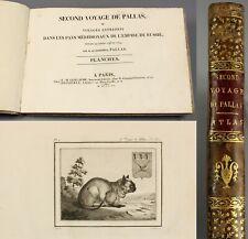 1811 Atlas (Plaques) Russia'Seconde Voyage de Pallas' avec Many Gravures / Maps