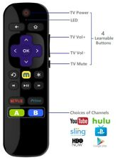 Universal IR Remote for Roku Player w/ TV Power Volume Buttons