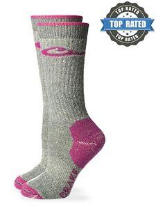 Drake Womens 80% Merino Wool Cushion Wicking Boot Crew Outdoor Socks 1PK
