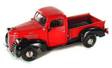 1941 PLYMOUTH PICKUP TRUCK 1/24 SCALE RED DIECAST CAR BY MOTOR MAX 73278ACR