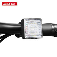 GACIRON Smart USB Rechargeable Bicycle Warning Head Front Light 80 Lumens LED
