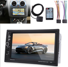 "7"" 2Din GPS Car Audio Stereo HD MP5 Player FM Remote Control W/North America Map"