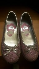 HELLO KITTY ,  6-7 years GIRLS Purple /PINK W/ SPARKLE CASUAL SHOES size 11-12