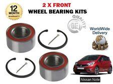 für Nissan Hinweis 1.2 1.5 dCi + Turbo 2013 > NEU 2 x VORDERRADLAGER Sets