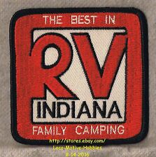 LMH PATCH Badge  RV INDIANA Motor Home Camper BEST IN FAMILY CAMPING Resort Park
