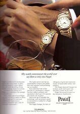 1994 Piaget Watch Tourneau Jewelry Fashion Vintage Print Advertisement Ad 1990s