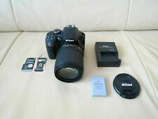 Nikon D3400 Digital Camera + AF-S 18-105mm DX VR Lens. Shutter Count : 0