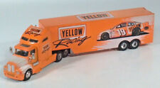 "Racing Champions Yellow Cab Kenworth Transporter Truck 11"" Diecast Scale Model"