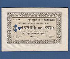 Gevelsberg w. Krefft AG 2 millones de marcos 1923 III +/vf +