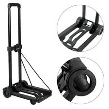 Portable Mini Folding Metal & PP Luggage Cart Hand Truck Trolley Foldable Dolly