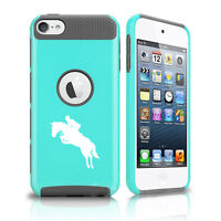For Apple iPod Touch 5th 6th Shockproof Hard Soft Case Cover Horse With Rider