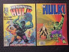 1977/80 RAMPAGING HULK Magazine #6 FN+ 6.5 #23 FN- 5.5 LOT of 2