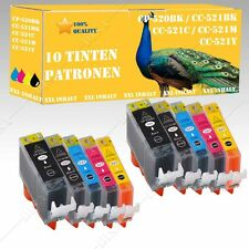 10x Tintepatronen kompatibel mit Canon Pixma MP550 / MP560 520-521 DiSa-INK