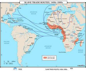 004 Slave Trade Routes, 1400s-1800s