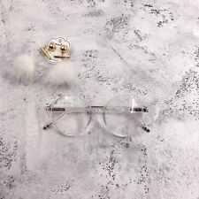 Transparent Round Oversized Geek Nerd Retro Vintage Clear Lens Glasses 60s 80s
