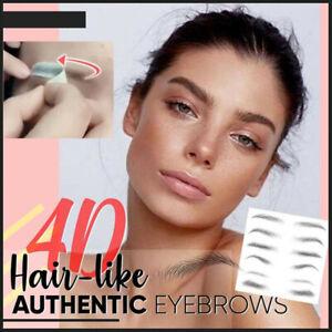 4D Hair-like Eyebrow Tattoo Sticker False Eyebrows Waterproof Brow stickers US