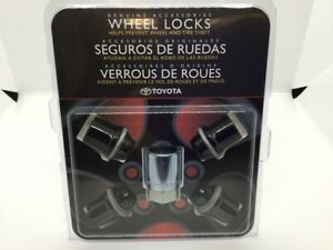 Genuine Toyota 4Runner Avalon Camry Tacoma Black PVD Alloy Wheel Lock Set PT276-