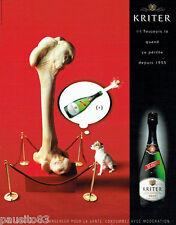 PUBLICITE ADVERTISING  026  2002  Kritter Brut vin mousseux 2