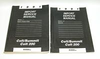 1991 Colt Summit Colt 200 Factory Service Manuals GOOD USED CONDITION
