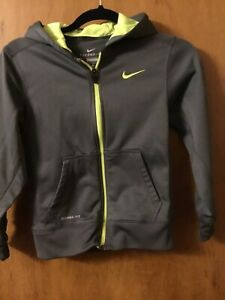 Youth Boys Nike Therma-fit Jacket Size M Grey