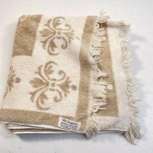 vintage fieldcrest bath towel imperial collection cotton blend usa 43x25 tan
